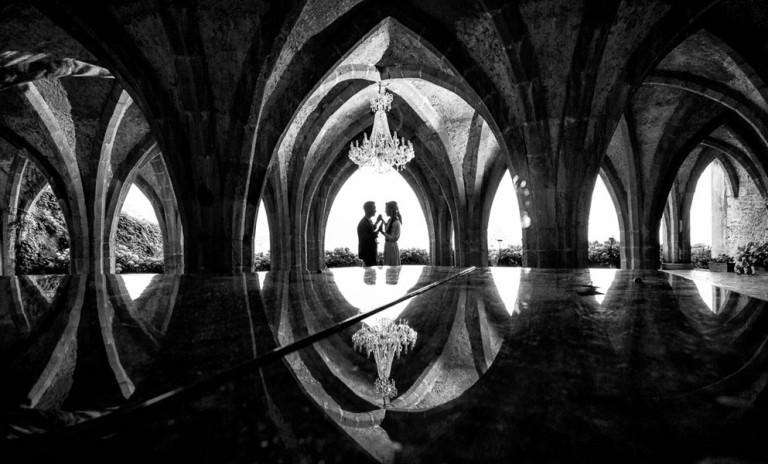 Couple at beautiful venue