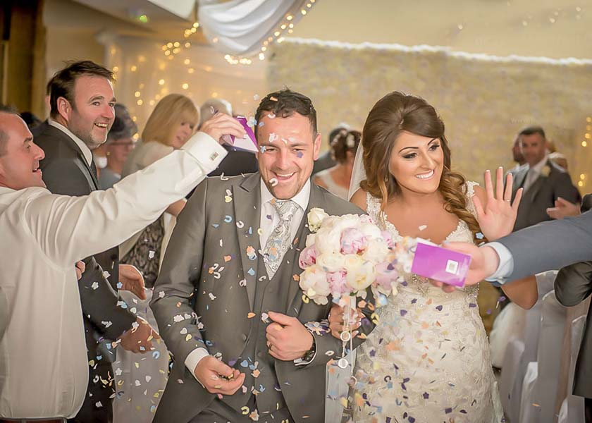 Confetti at Stirk House Hotel