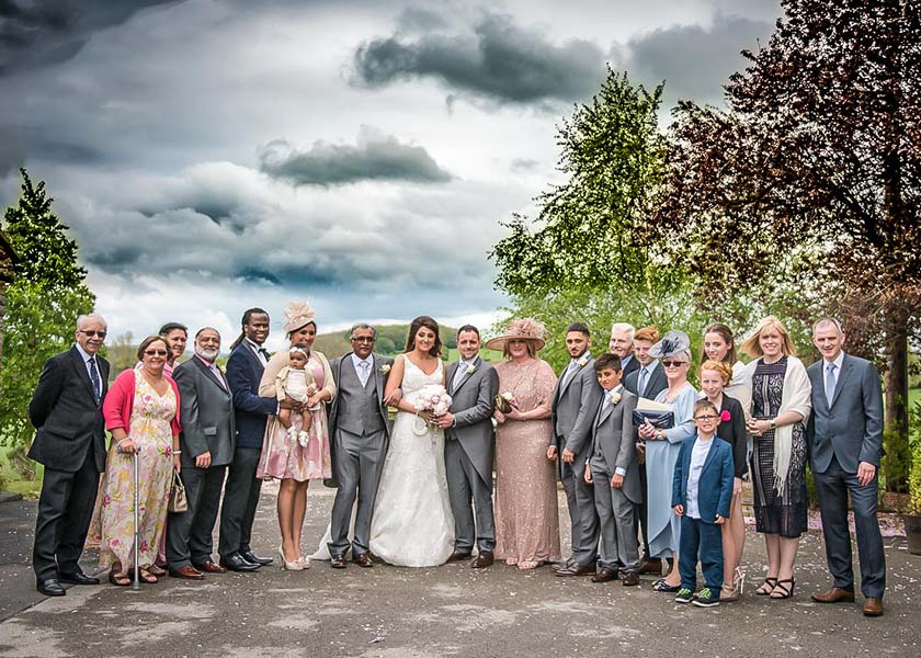 Bridal Party at Stirk House Hotel