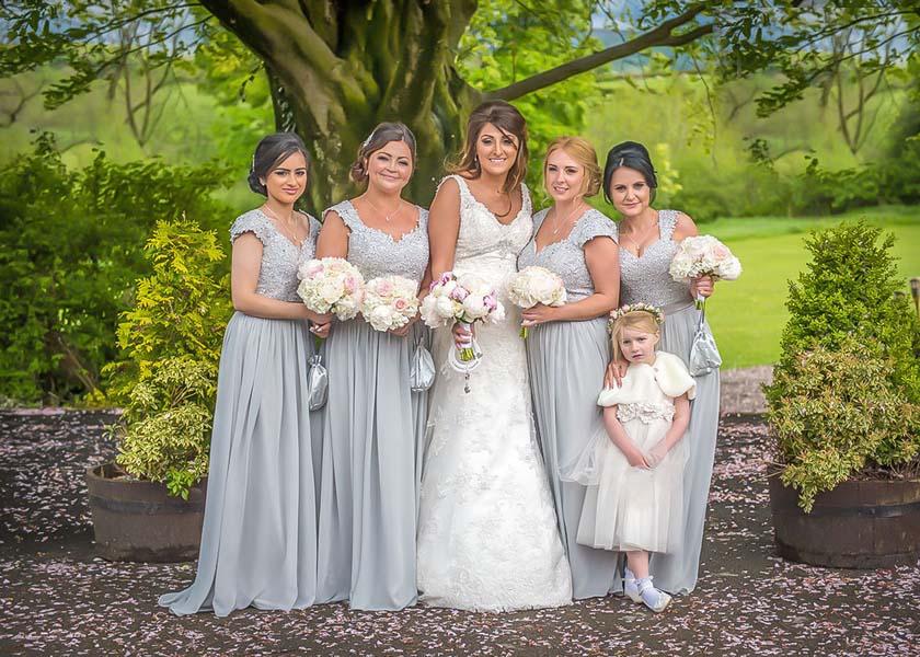 Bride and Bridesmaids Stirk House Hotel