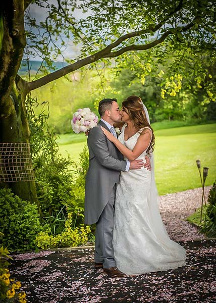 Garden at Stirk House Hotel wedding
