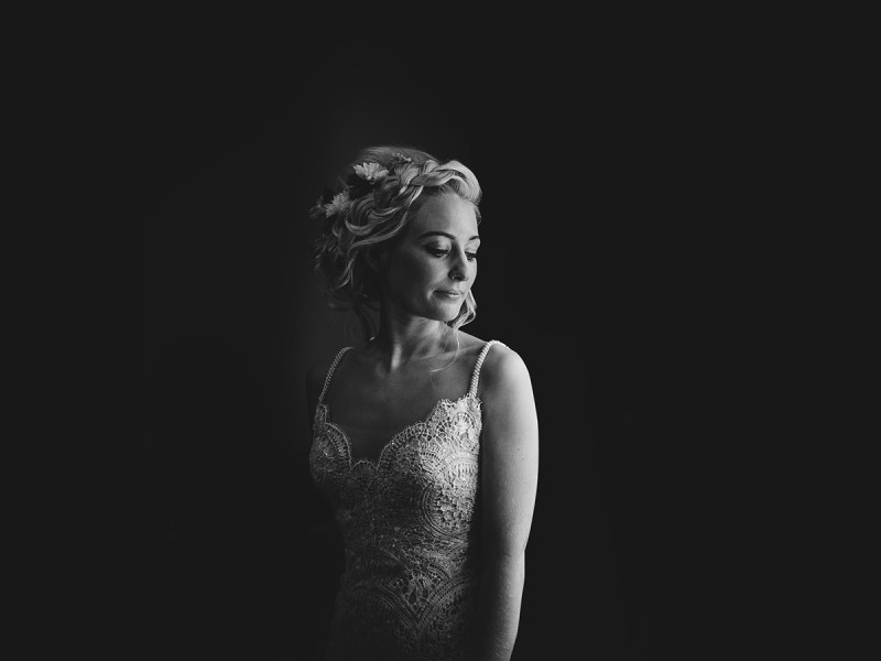 beautiful bridal portrait by aaron storry