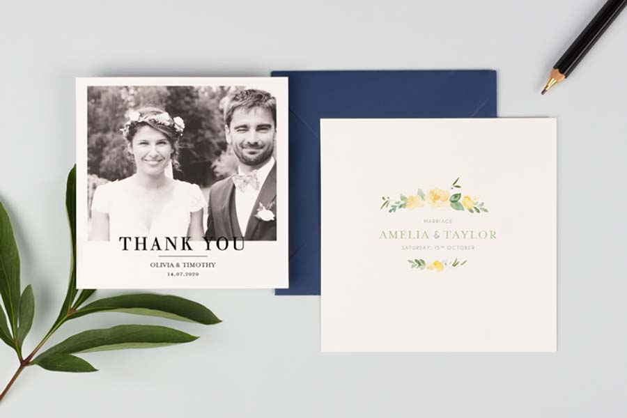 Stylishly Simplistic thank you cards