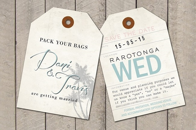 Wedding Save The Date Card Black Chalkboard