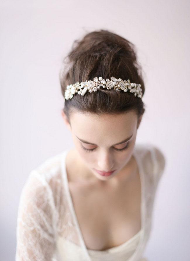 wedding hairband twigs honey