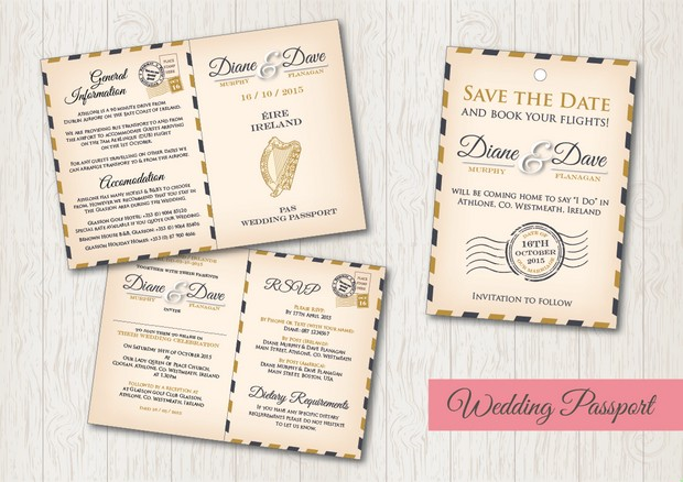 Destination Wedding Save The Date Pport Card