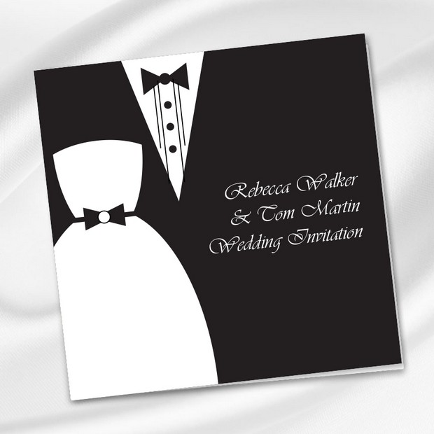 Dress Tux Wedding Invite Print Ie