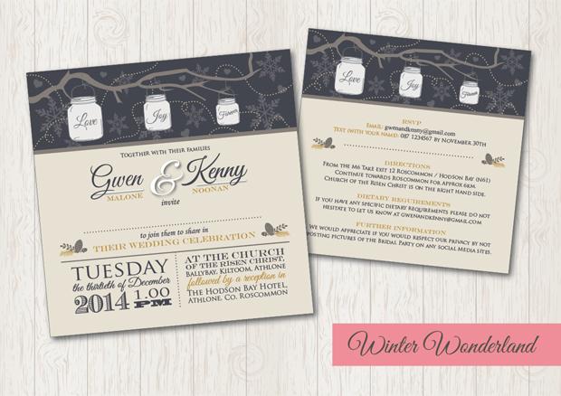 Winter Wonderland Wedding Invite Splash Graphics