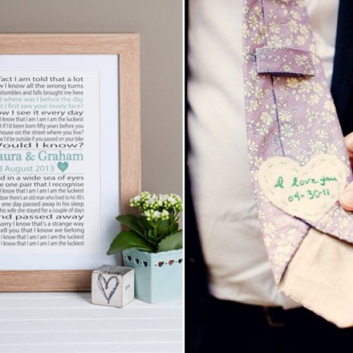 Wedding Day Gift Ideas for Brides & Grooms