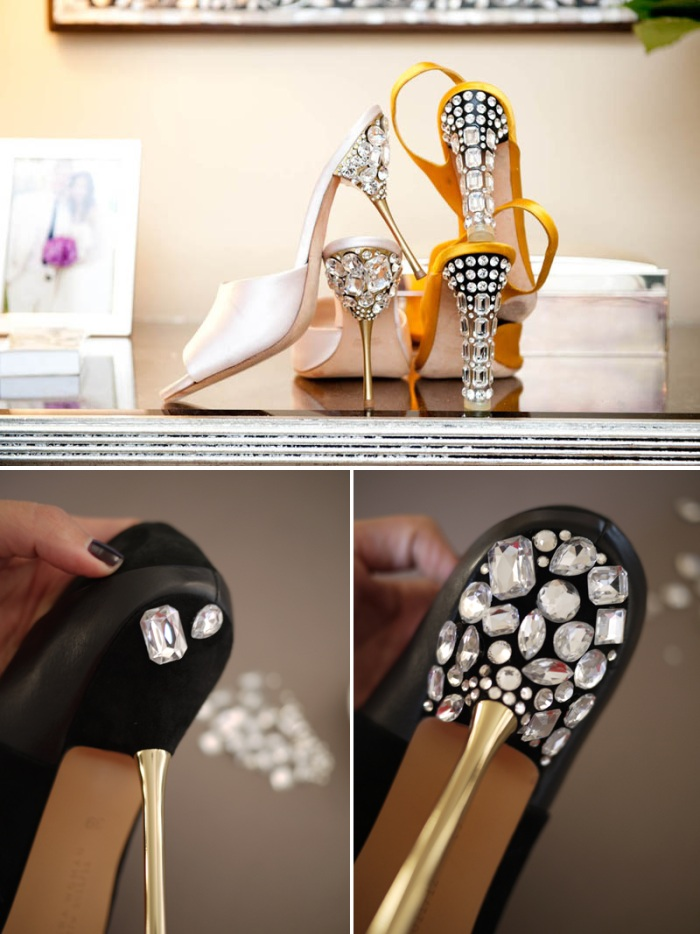 DIY Wedding Shoes Rhinestones