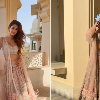 Disha Patani's light pink lehenga is perfect for intimate weddings