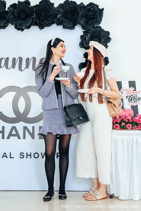 Hanna's Chanel themed bridal shower in Mumbai