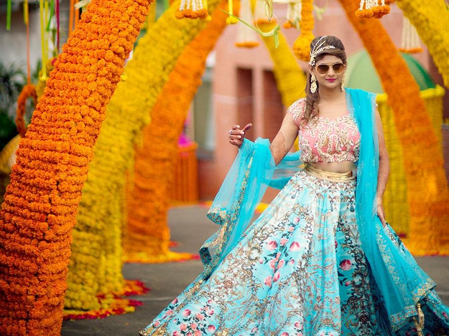 Rashmi in Falguni Shane Peacock Designs
