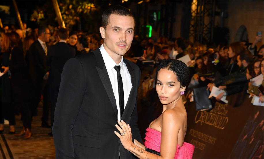 Zoë Kravitz and Karl Glusman, Paris