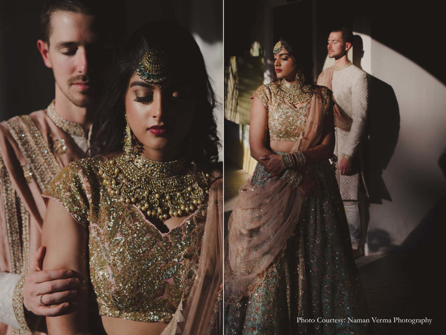 Ashna and Brett, Taj Falaknuma Palace, Hyderabad