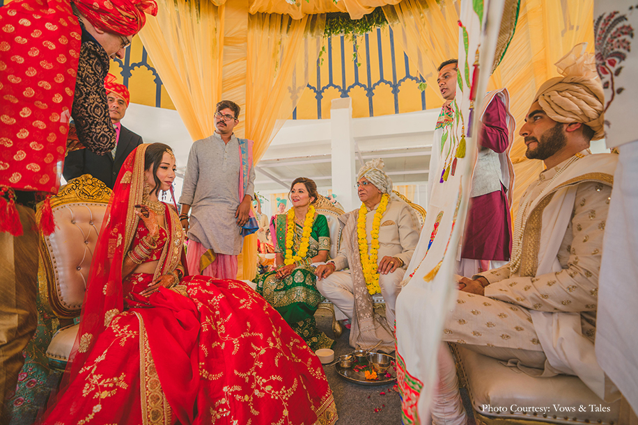 Shivani and Rajit, Radisson Blu Palace Resort and Spa, Udaipur