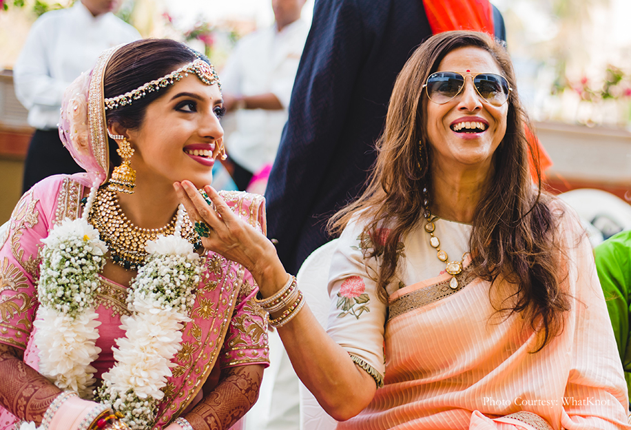 Bride Charvi with Shobhaa Dee
