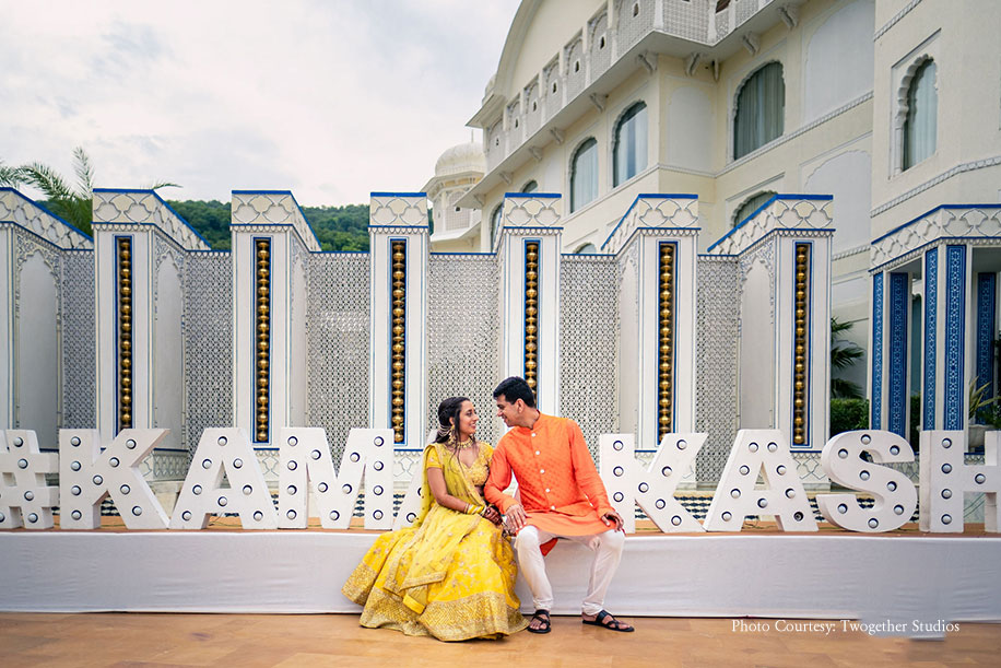 Kamakshi and Aakash, JW Marriott Jaipur Resort & Spa