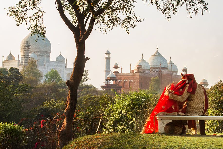 Michele and Harsh, Taj Mahal, Agra, India