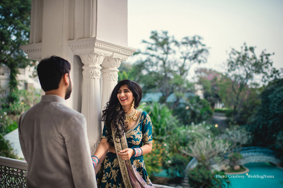 Richie and Vishwa, Taj Falaknuma Palace, Hyderabad