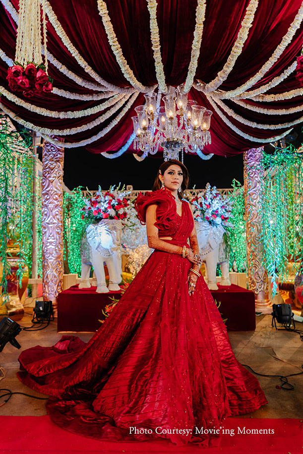 Red gown for reception