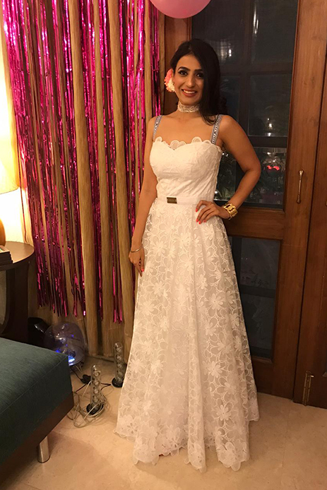 White Gown by Nitya Bajaj