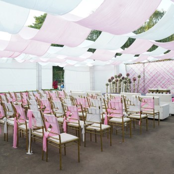 Stylish and sustainable, this pastel themed decor was a treat for the senses