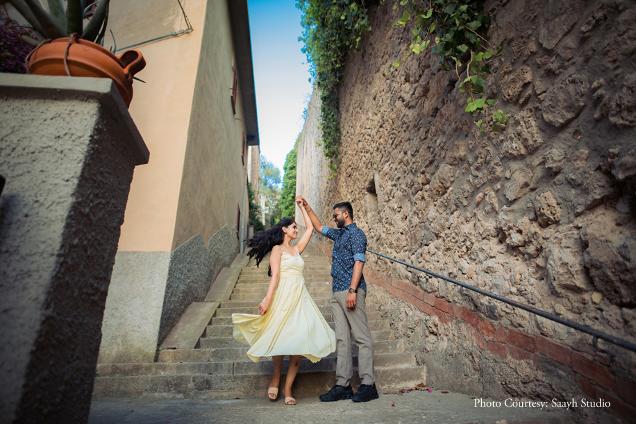 Tejaswini and Abhinga planned their pre-wedding shoot in Tuscany, Italy, which offered endless options for stunning frames and moods
