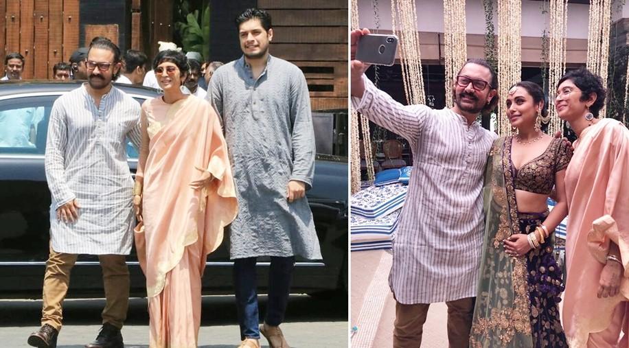 Aamir Khan, Junaid Khan, Kiran Rao at Sonam Kapoor's Wedding