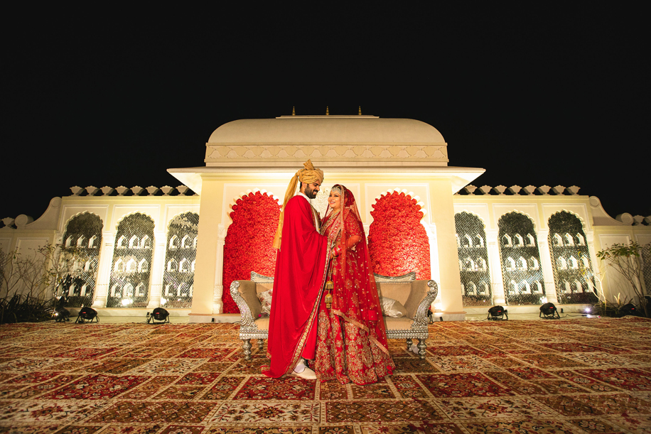 This Jaipur wedding at a palace property impressed all with its standout decor