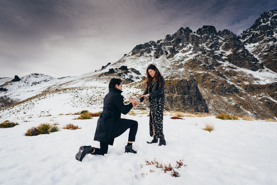 Wedding Proposal at Cecil Peak Queenstown