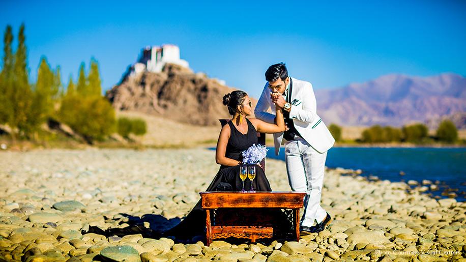 Jinisha and Romil's cinematic photoshoot in Ladakh