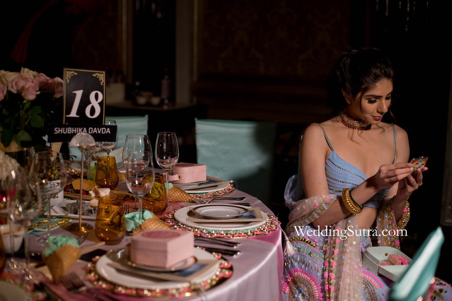 Concept Tables at WeddingSutra Influencer Awards by Papa Don't Preach by Shubhika Davda