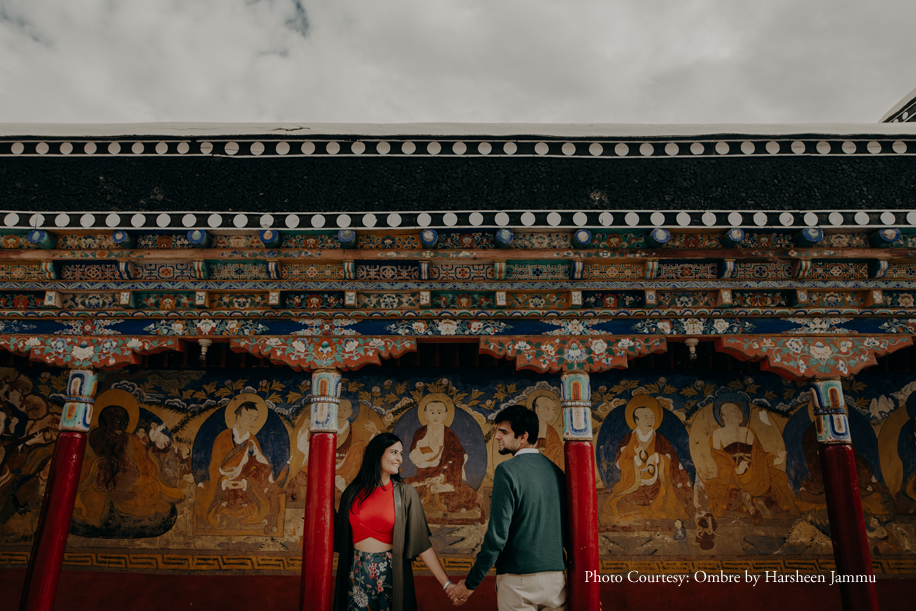 Drama and romance come together in this pre-wedding shoot in lovely Ladakh