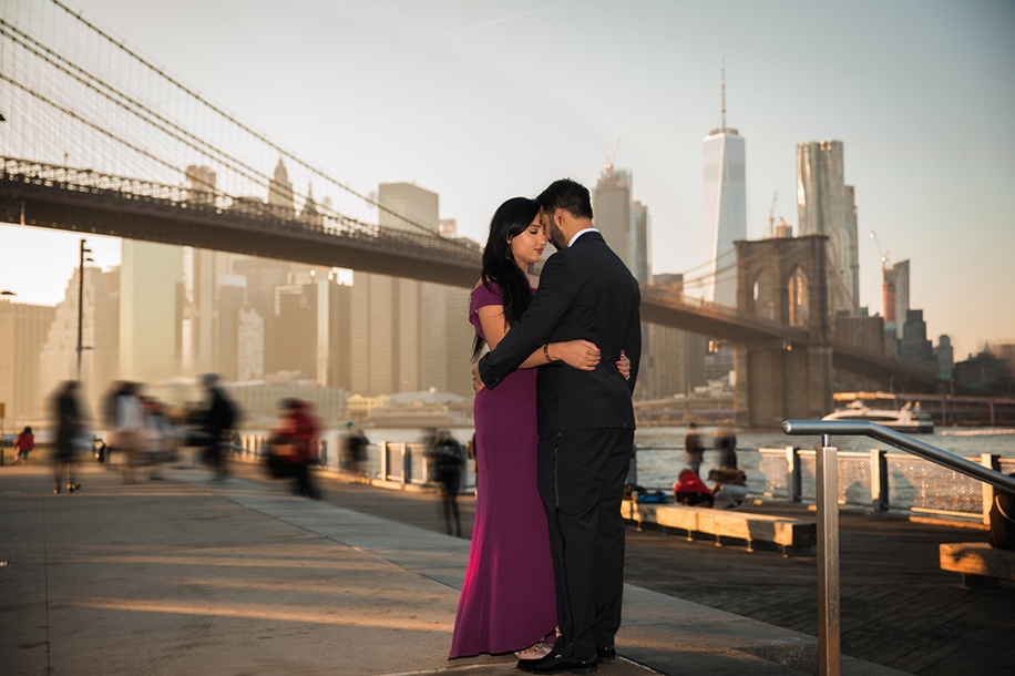 A glamorous proposal that celebrated the city of New York.