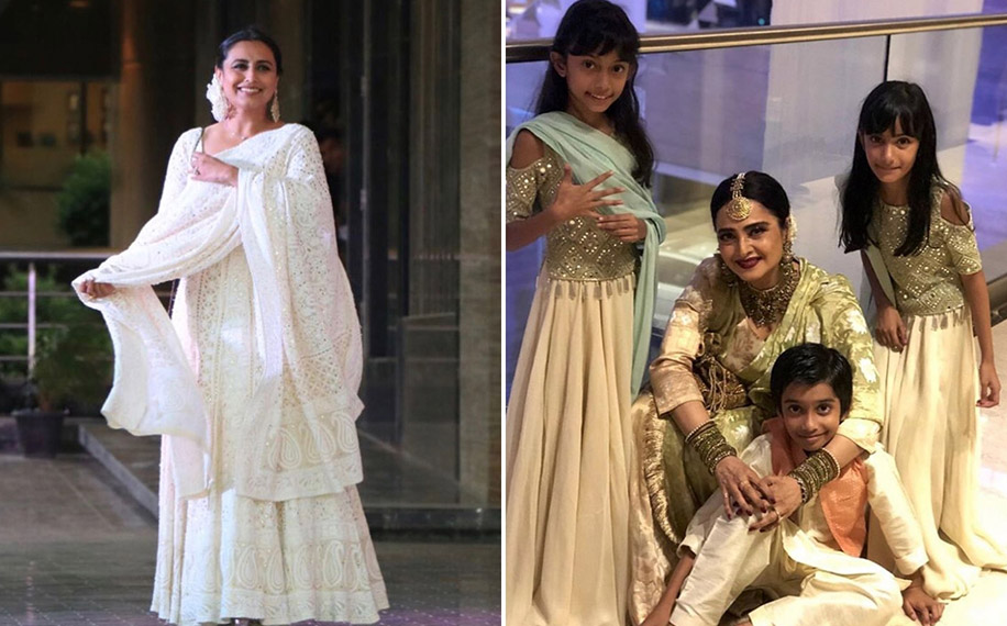 Rani Mukherjee and Rekha at Sonam Kapoor's Mehendi