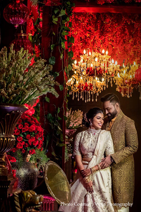 This Stylish Sabyasachi-inspired Engagement At ITC Grand Chola Mirrored A Royal Celebration