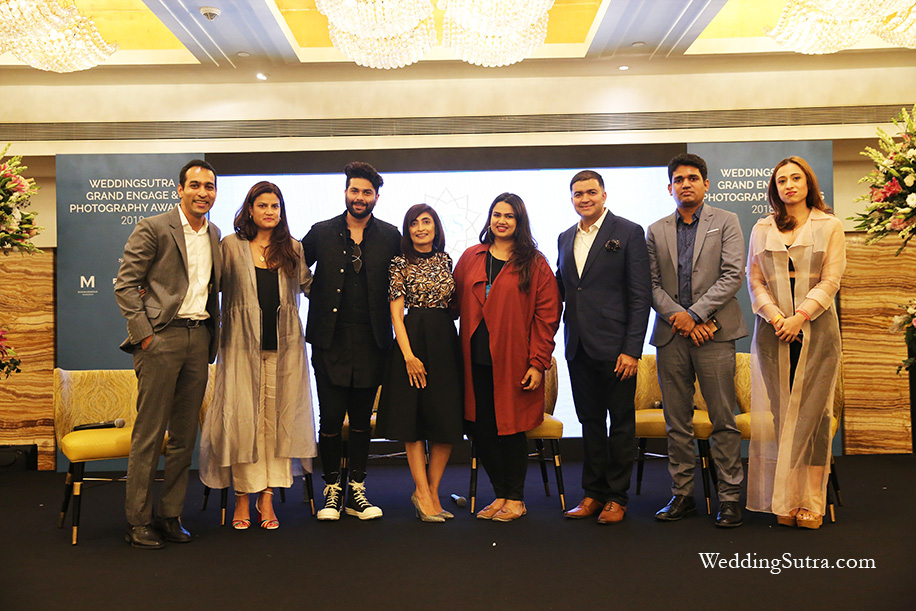 Second panel discussion: Anand Rathi, Anjali Gaekwar, Kunal Rawal, Madhulika Mathur, Pooja Dhingra, Parthip Thyagarajan, Joshua Karthik and Shehla Khan at WeddingSutra Grand Engage 2018