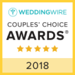 We also won Wedding Wires couple choice awards in 2018