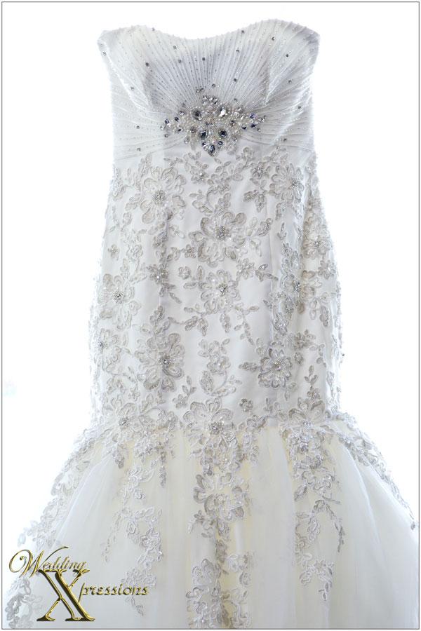 photography of white wedding dress