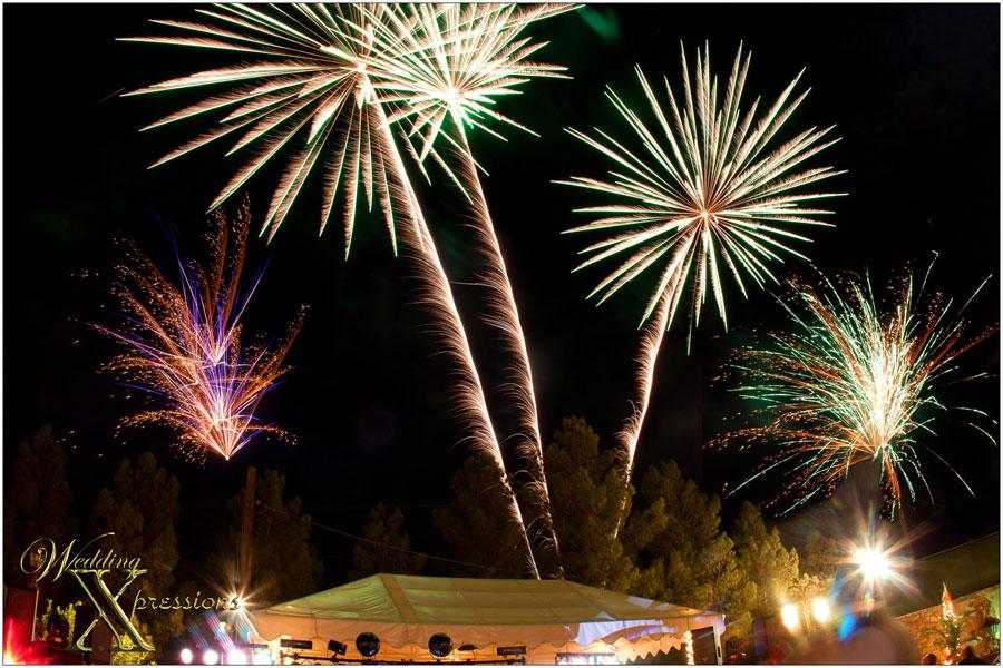 Fireworks at Jardines Arco Iris in El Paso, TX