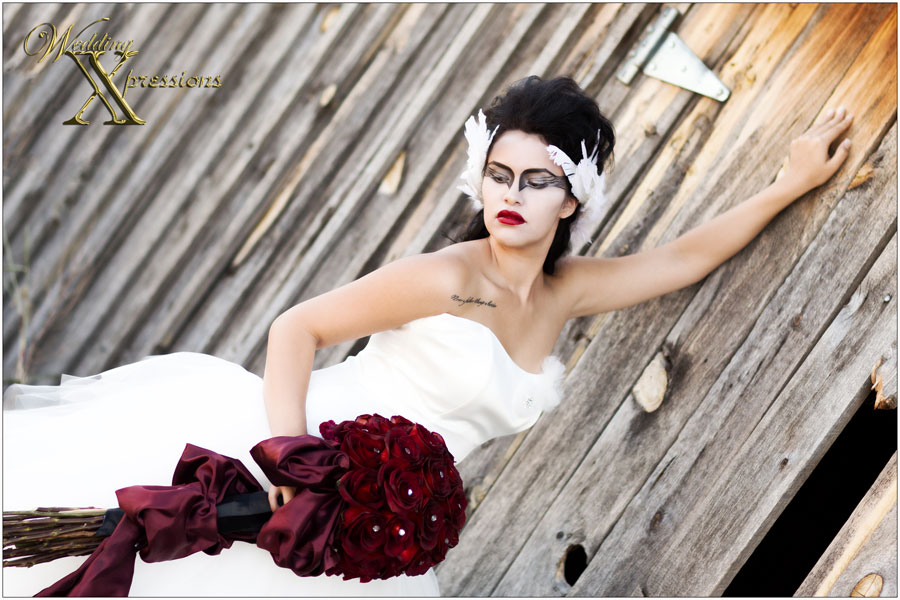 Black Swan Florist model session