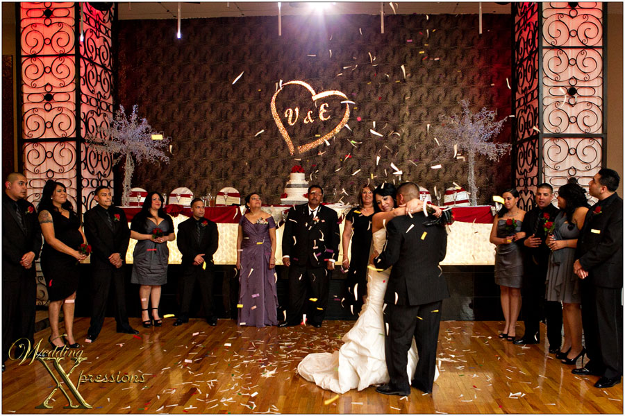 wedding first dance at the Mirage Ballroom in El Paso, TX.