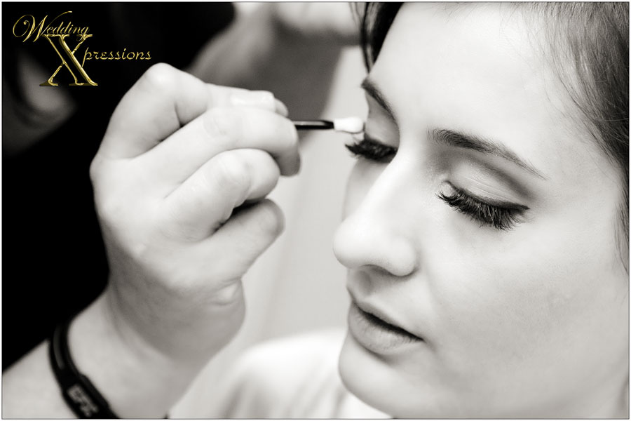 bridal makeup during wedding day