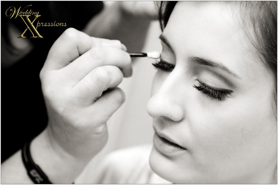 bridal makeup during wedding day
