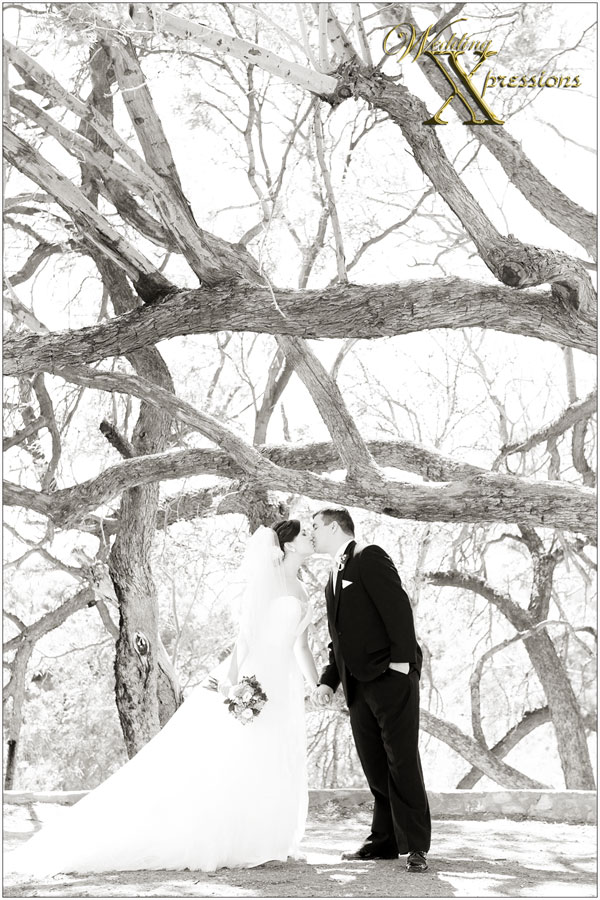 black and white park wedding photography