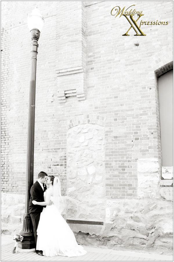 Bryan & Kayla's wedding in black and white