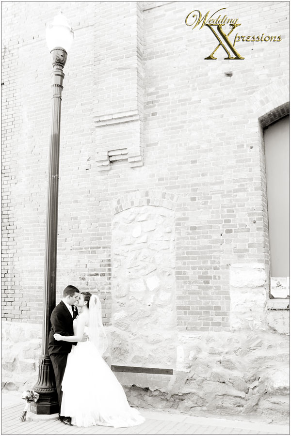 Bryan & Kayla's wedding in black and white