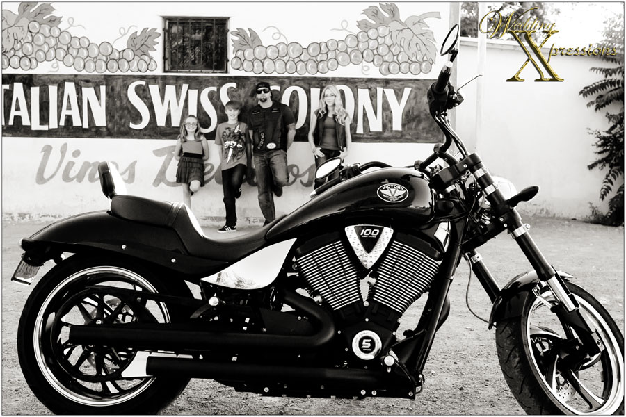 Victory Motorcycles family portraits