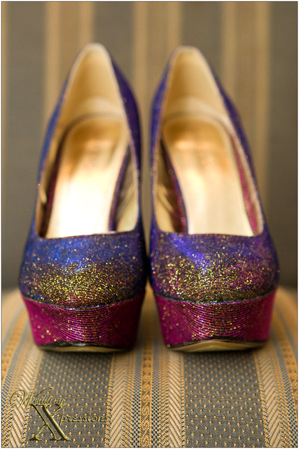 colorful wedding bridal shoes